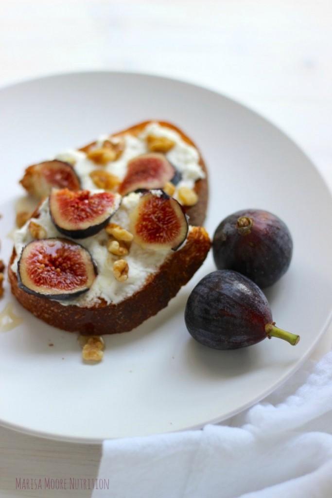 Fig Walnut Honey Toast on MarisaMoore.com