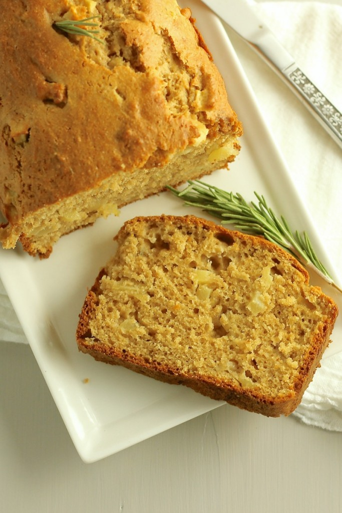 Apple Rosemary Quick Bread