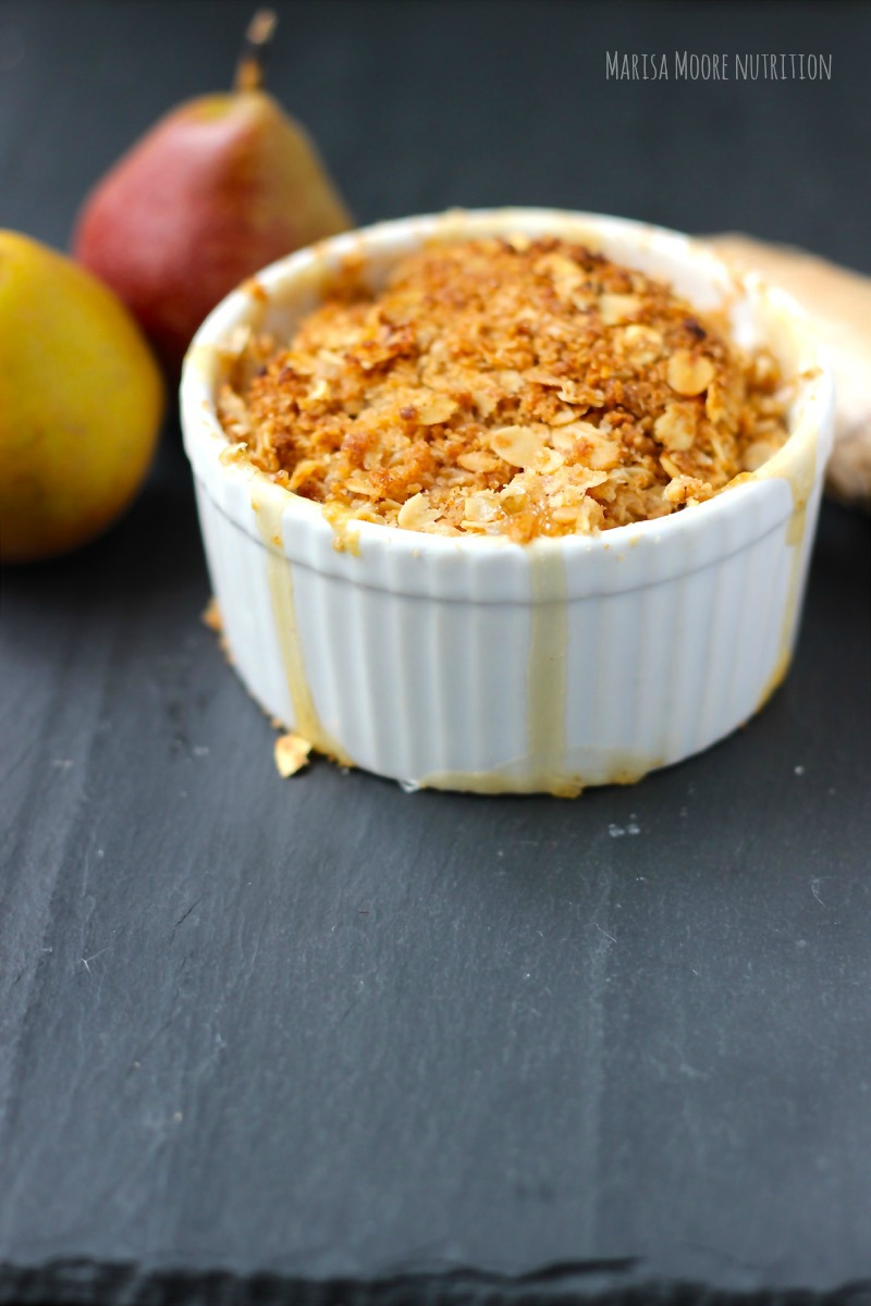 Maple Ginger Pear Crumble