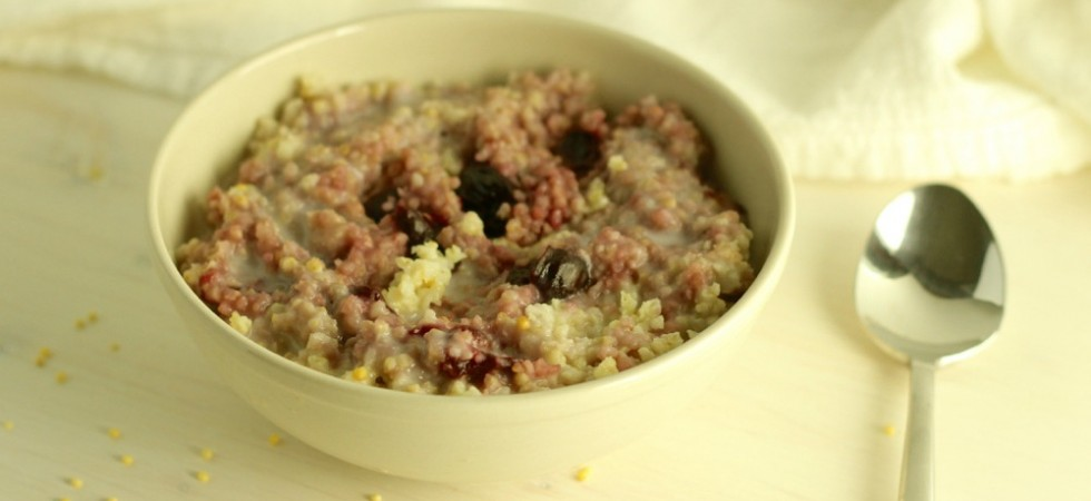 Creamy Coconut Cherry Millet Porridge
