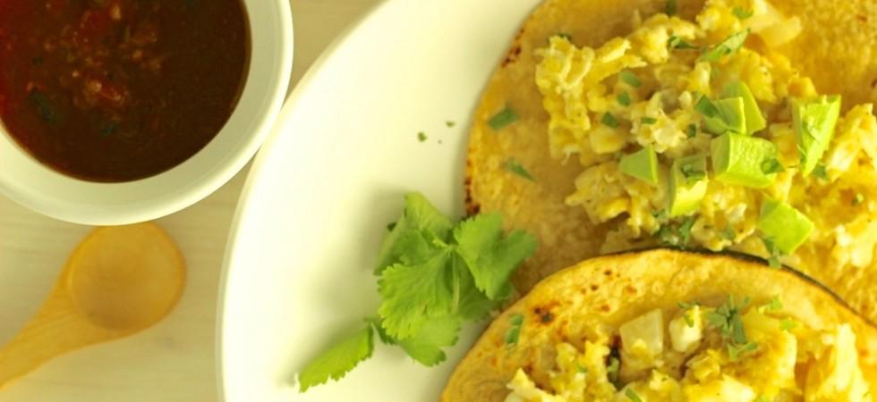 Easy Egg Avocado Breakfast Tacos