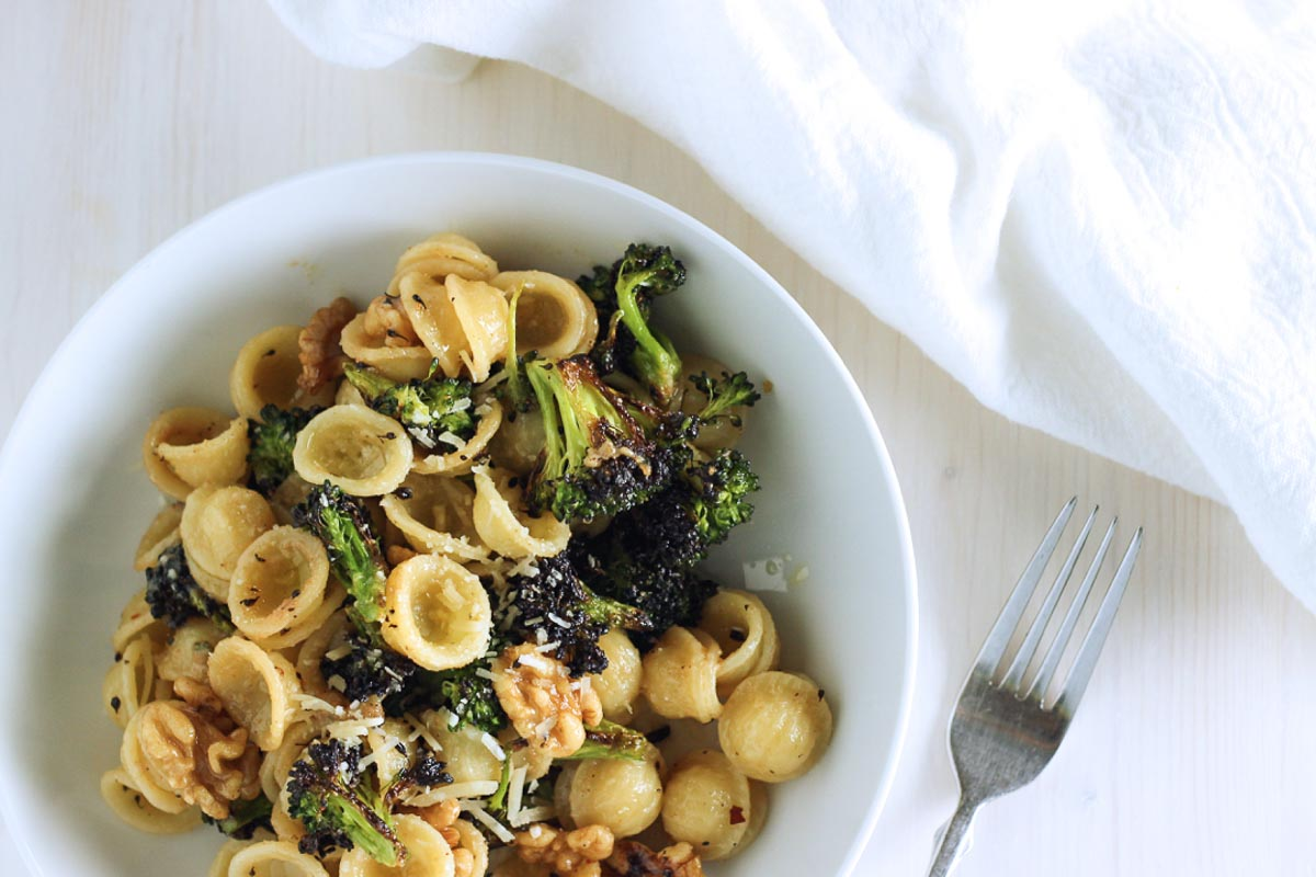 Roasted Broccoli & Walnut Orecchiette