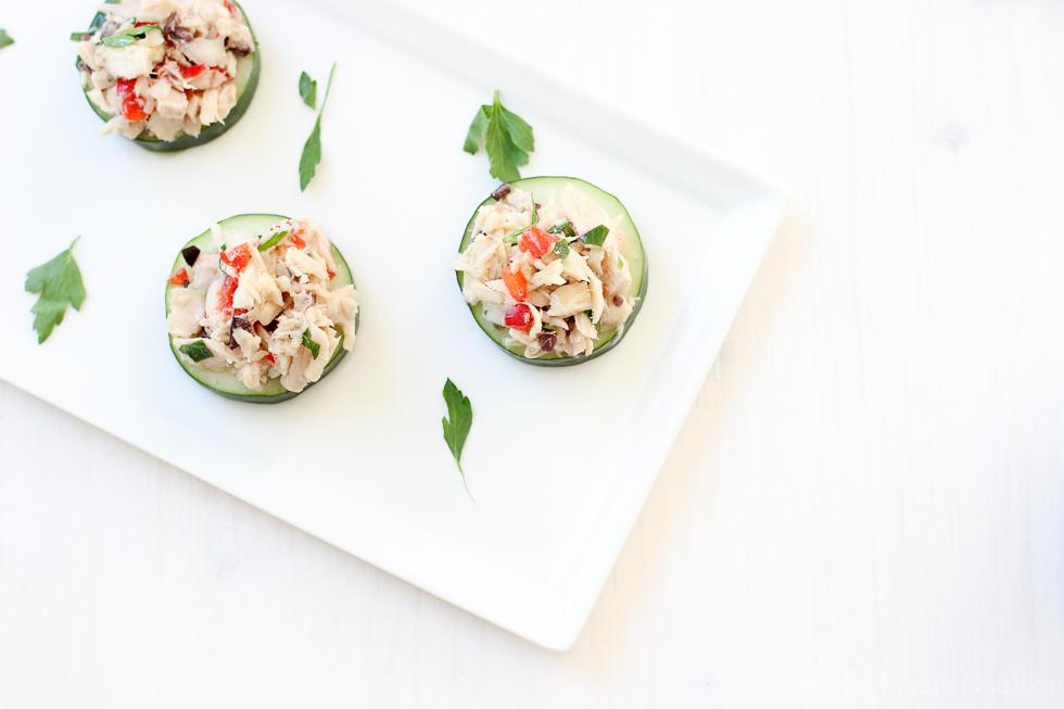 Greek Tuna Salad Bites
