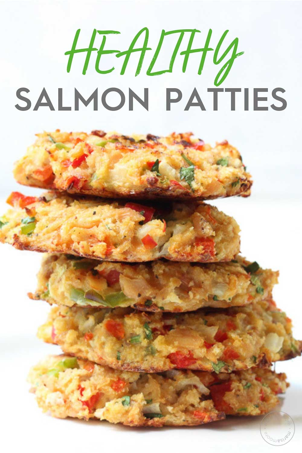 Healthy Salmon Patties Stacked PIN