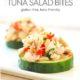 Mediterranean Tuna Bites on cucumber slices