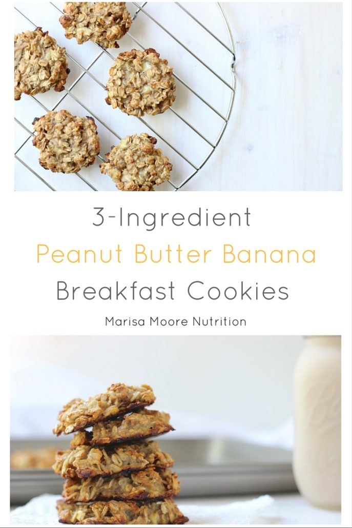 Peanut Butter Banana Breakfast Cookies PIN