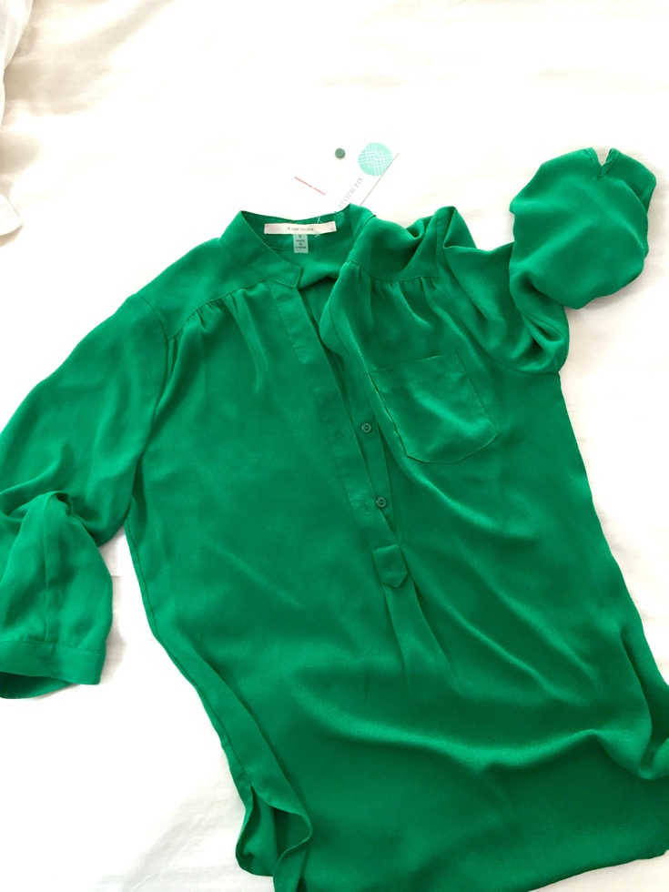 Stitch Fix Review Green Top