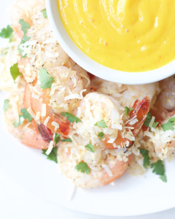 Coconut Shrimp and Mango Sauce