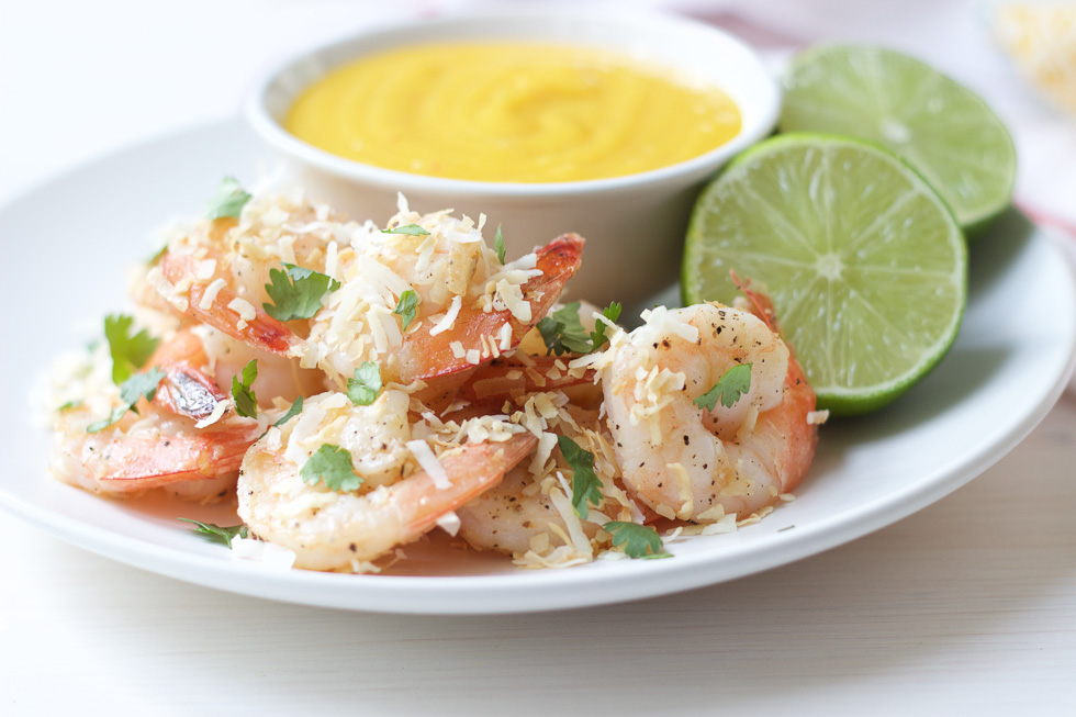Coconut Shrimp with Mango Coconut Sauce