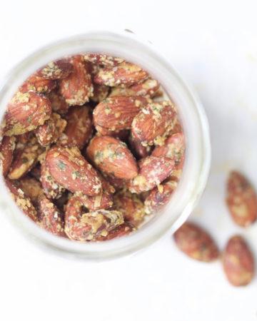 Pesto Roasted Almonds