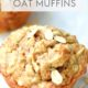 apple cinnamon muffin with oats on top