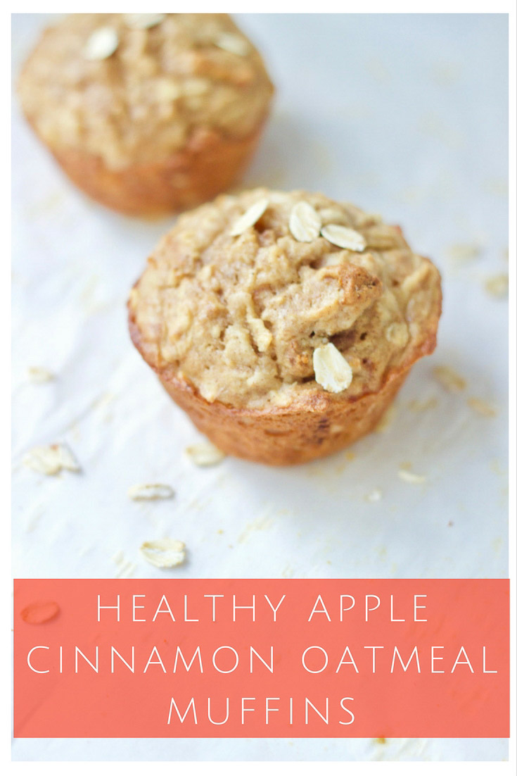 Healthy Apple Cinnamon Oatmeal Muffins