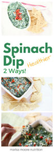 spinach dip pinterest graphic