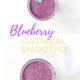 Blueberry Oatmeal Smoothie with a straw going in PIN