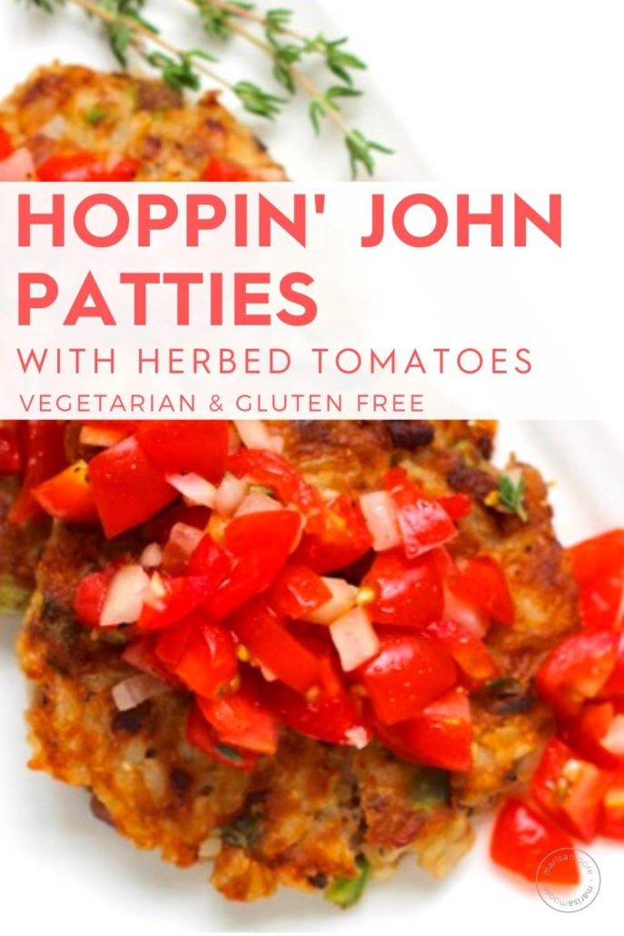 hoppin john patties with tomatoes
