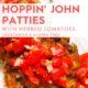 hoppin john patties with tomatoes