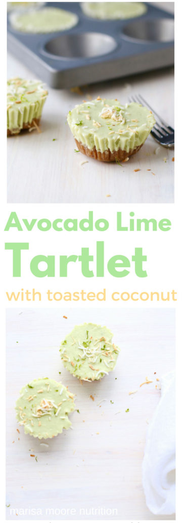 Coconut Lime Avocado Tartlet