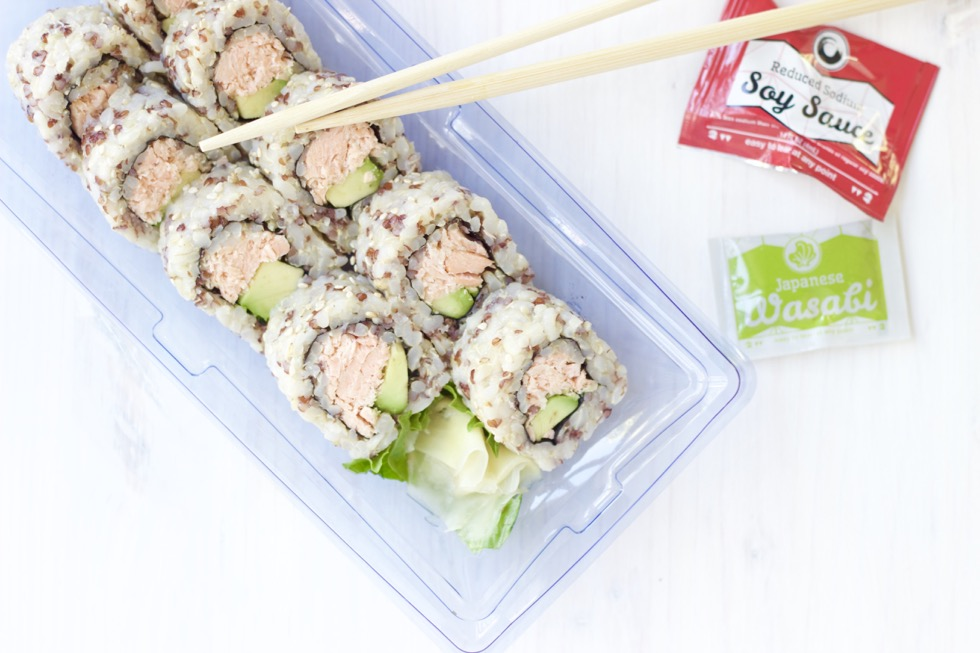 Salmon Avocado Brown Rice Quinoa Roll