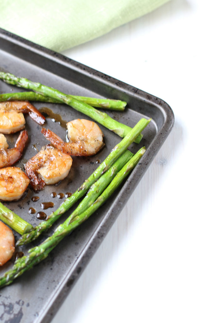 Sheet Pan Honey Soy Shrimp & Asparagus