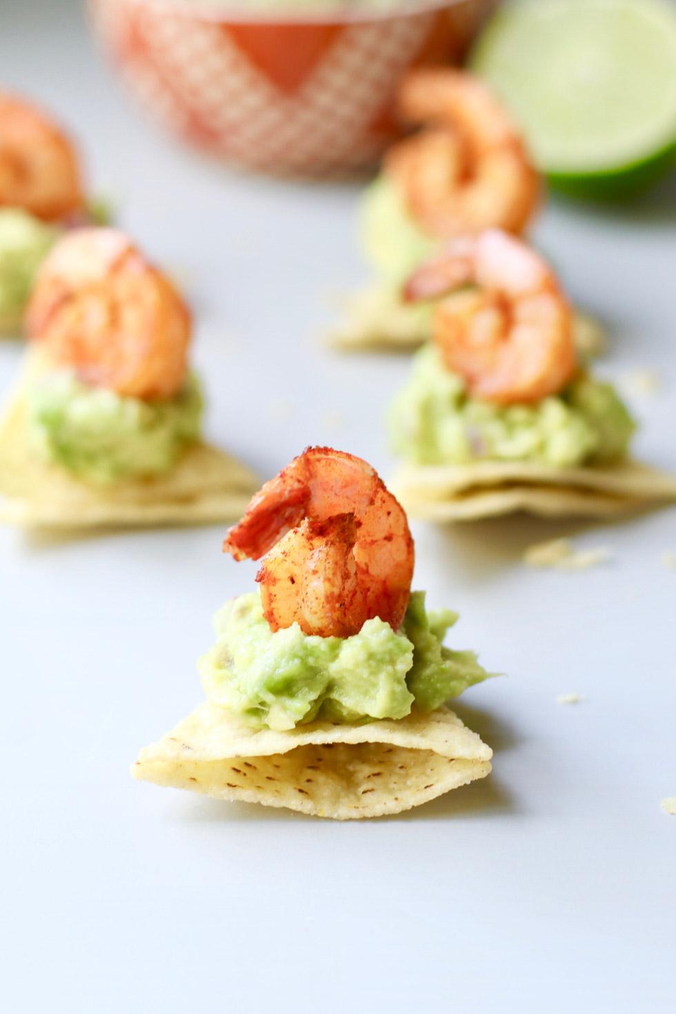 Chipotle Shrimp Guacamole Bites