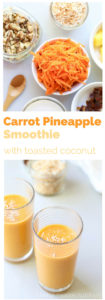 Carrot Pineapple Smoothie with Coconut