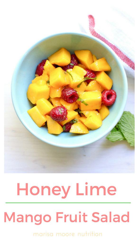 Honey Lime Mango Fruit Salad
