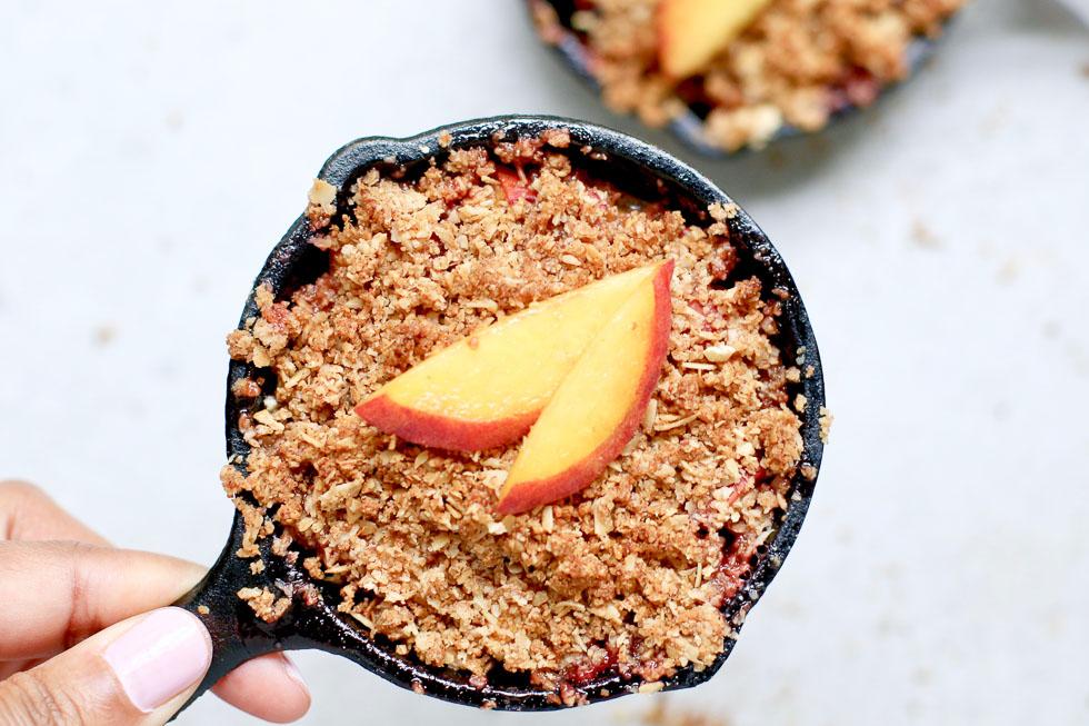 Mini Peach Crisp