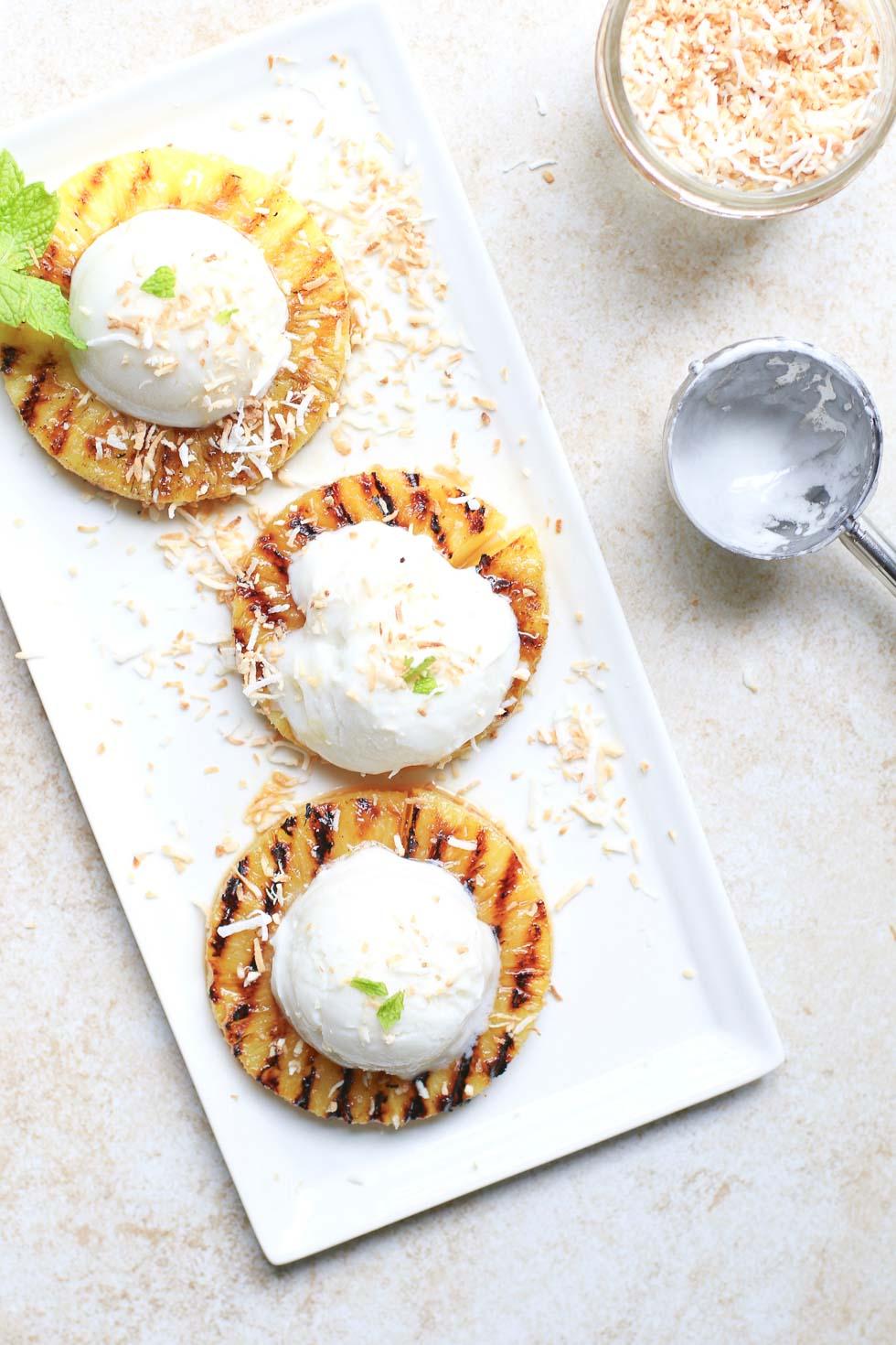 Piña Colada Grilled Pineapple Dessert
