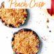 peach crisp in two mini skillets