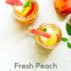 Fresh Peach Ginger Iced Tea