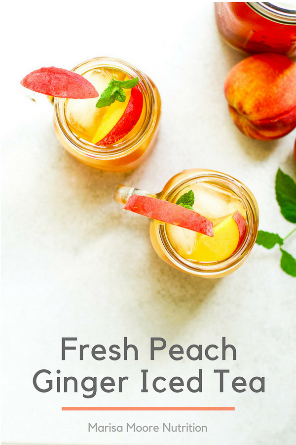 Fresh Peach Ginger Iced Tea