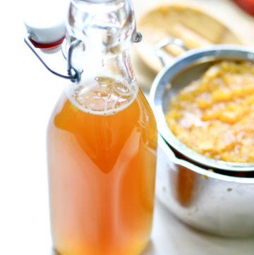 Honey Peach Simple Syrup