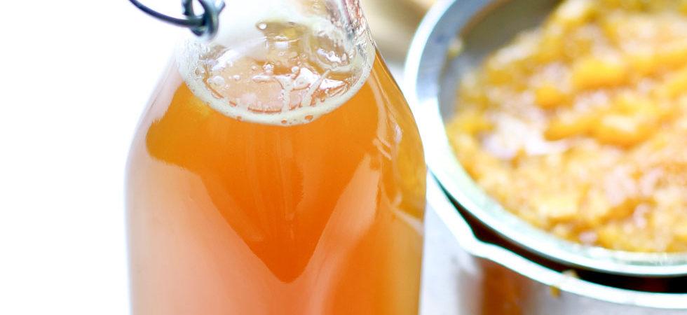 Honey Peach Simple Syrup