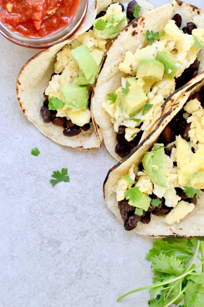 Black Bean Breakfast Tacos