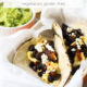 Black Bean Egg Breakfast Tacos with guacamole