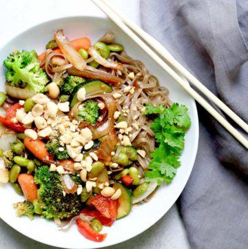 Easy Weeknight Vegan Stir-Fry with Edamame