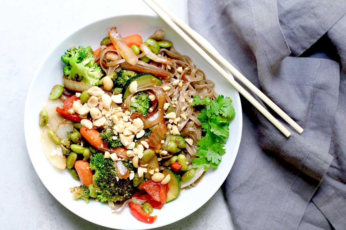 Easy Vegan Weeknight Stir Fry With Edamame Marisa Moore Nutrition