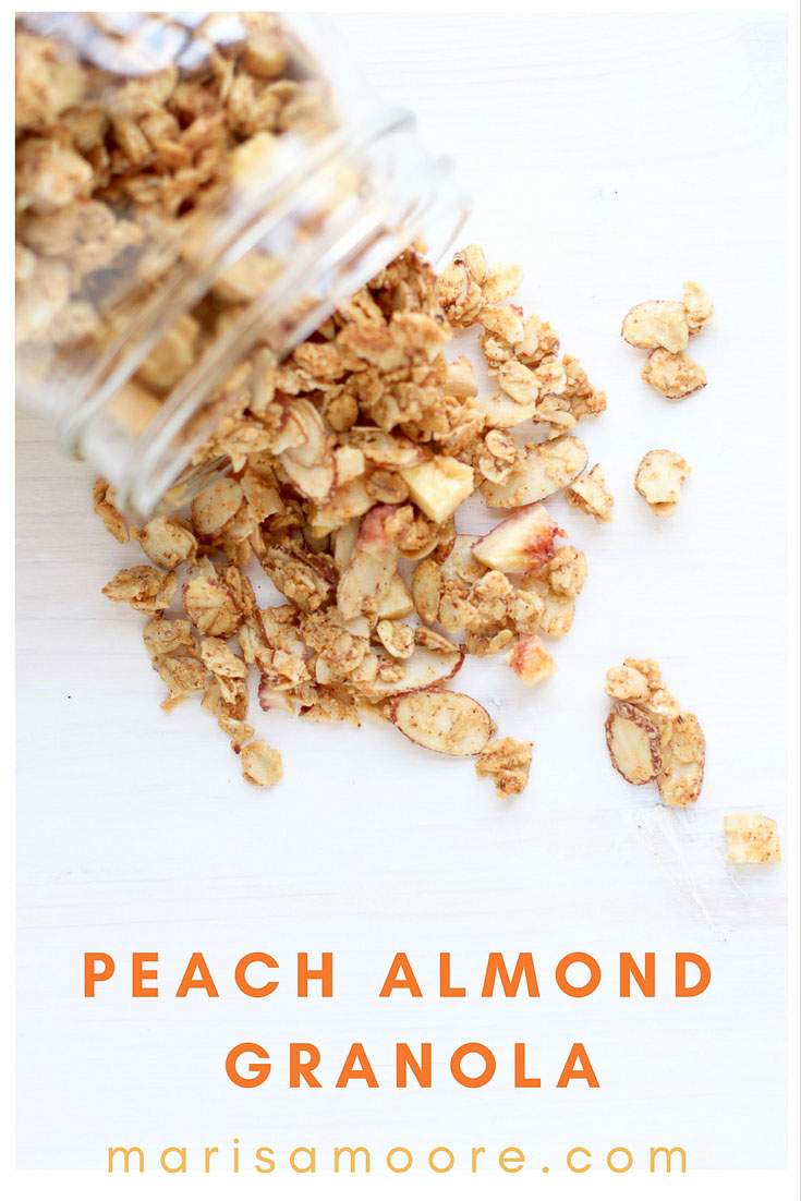 Homemade Peach Almond Granola - Vegan Gluten Free