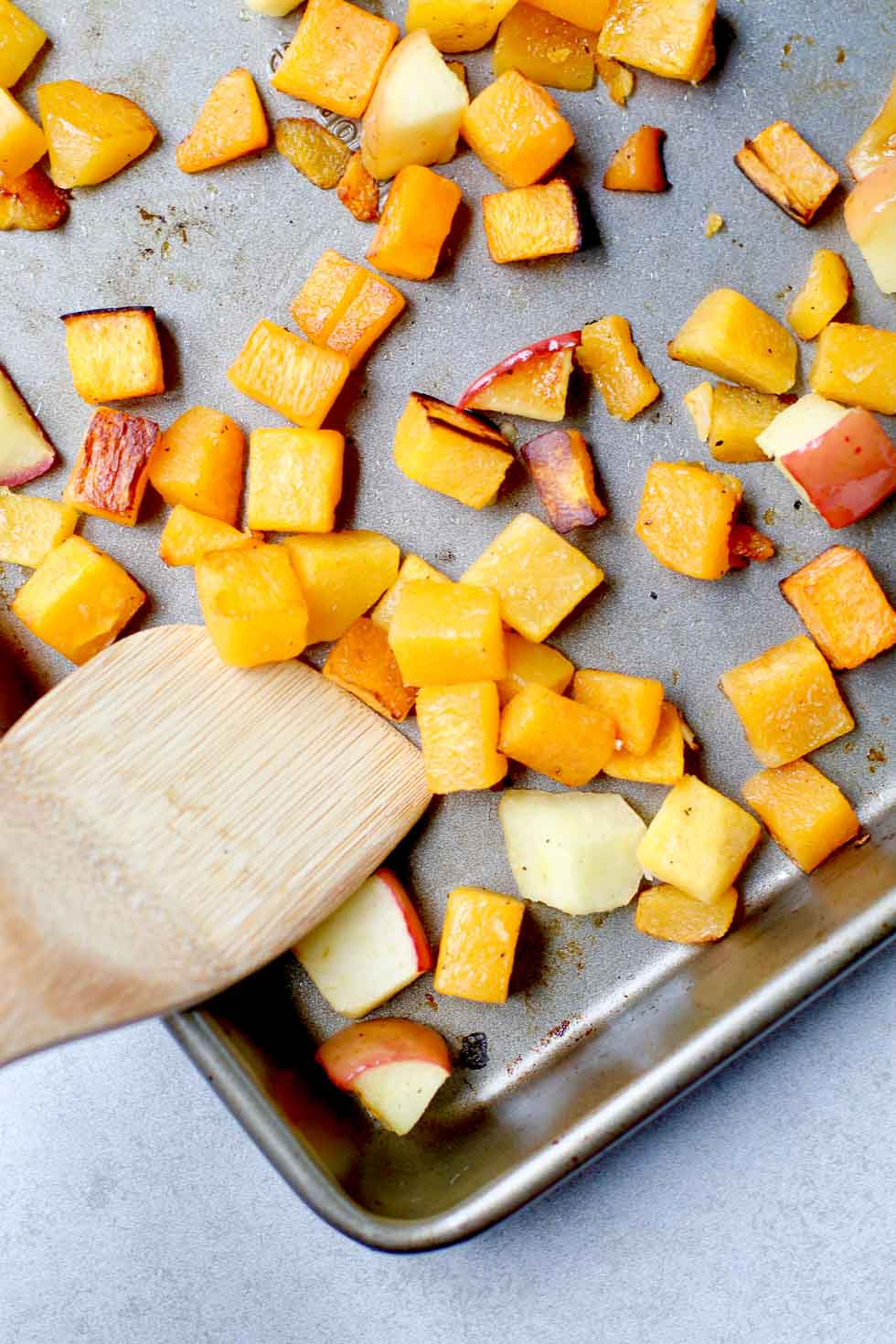 Easy Roasted Butternut Squash and Apples