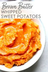 Brown Butter Whipped Sweet Potatoes close up