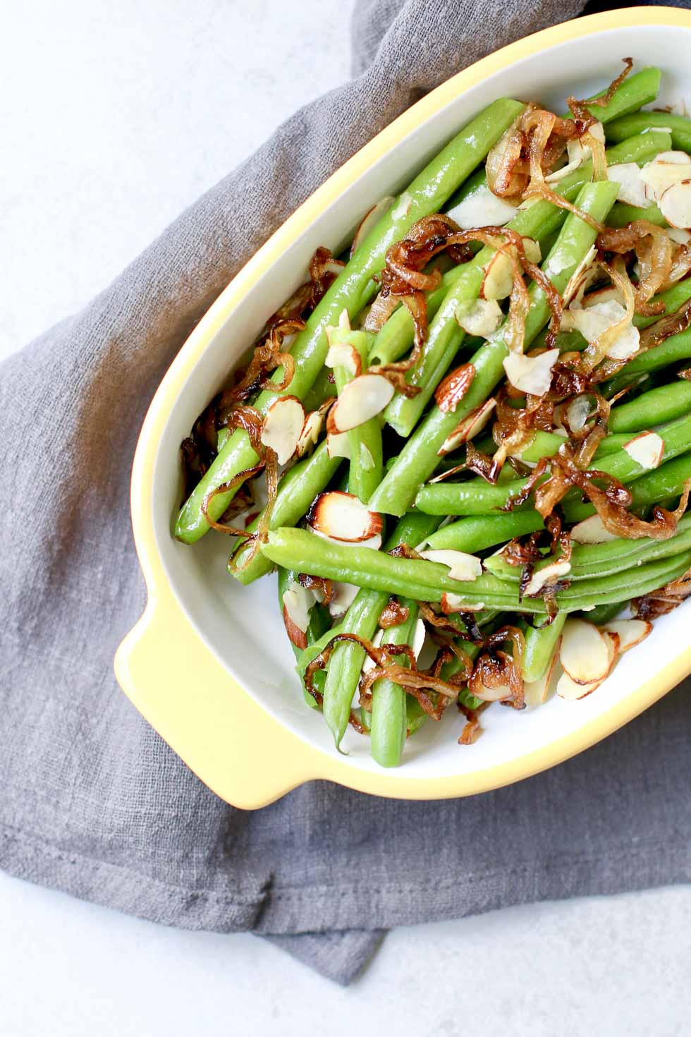 Green Beans With Caramelized Onions And Almonds Marisa Moore