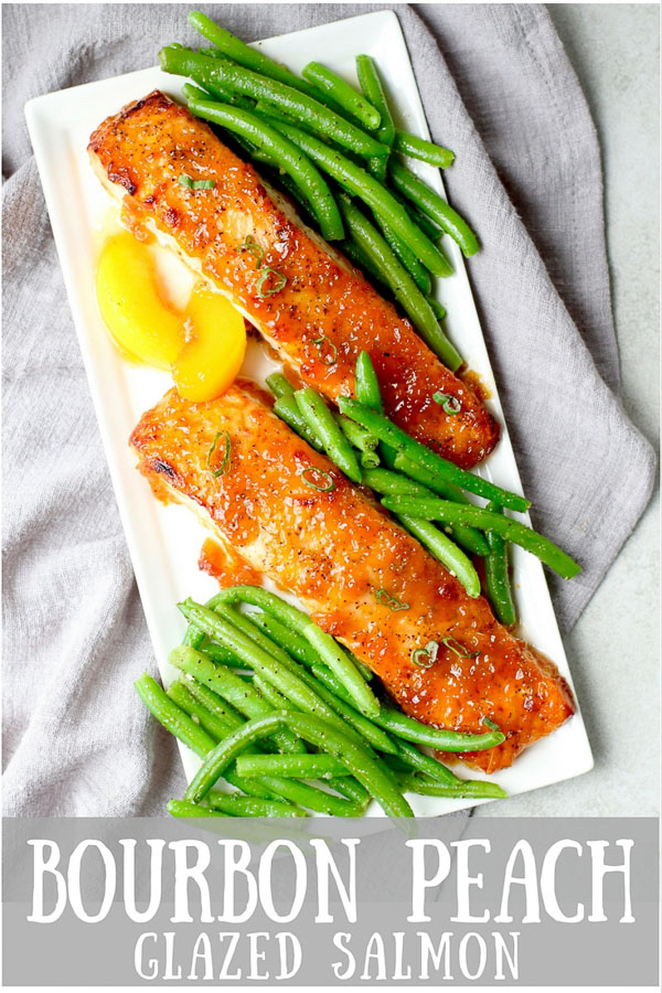 Bourbon Peach Glazed Salmon PIN