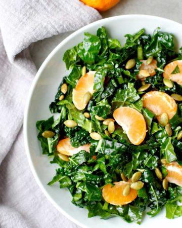 Winter Salad Kale Tangerine Pepita Salad
