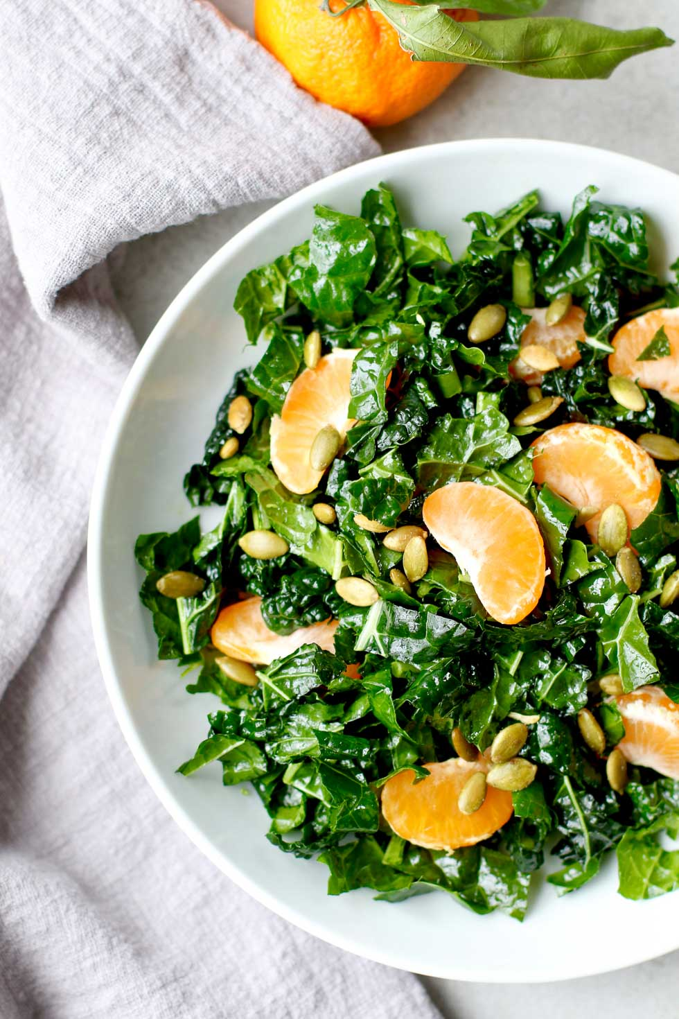 Winter Salad Kale Tangerine Pepita Salad