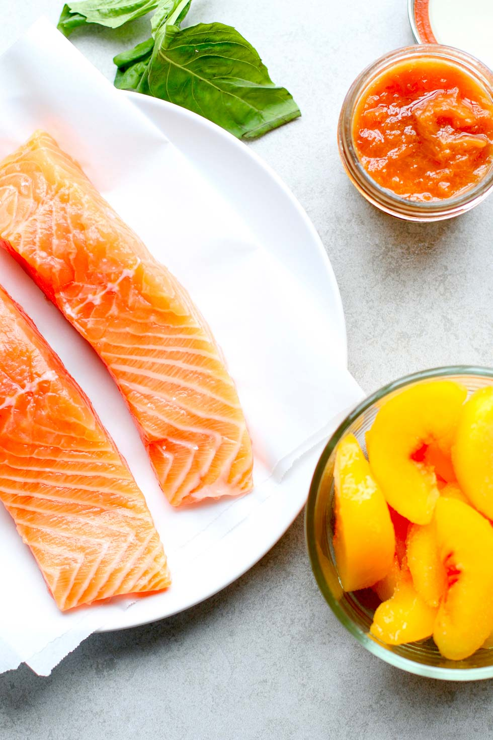 How to Make Peach Glazed Salmon - Ingredients