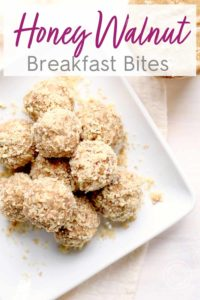 Honey Walnut Breakfast Bites