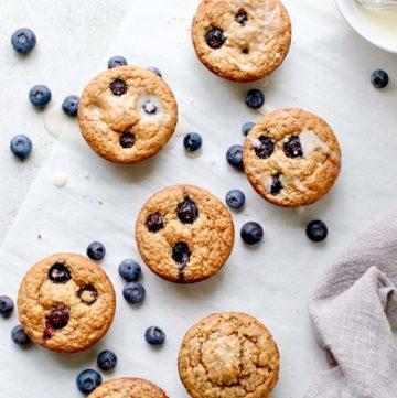 Blueberry Blender Muffins Glaze Optional