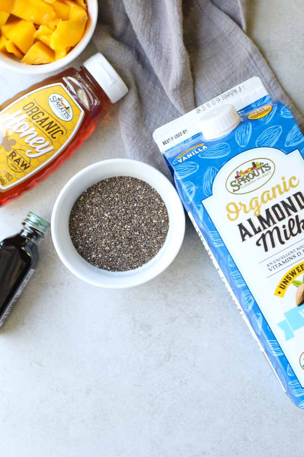 Mango Chia Seed Pudding Ingredients