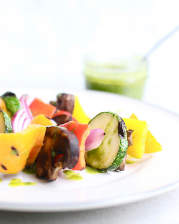 Grilled Summer Vegetables with Basil Vinaigrette