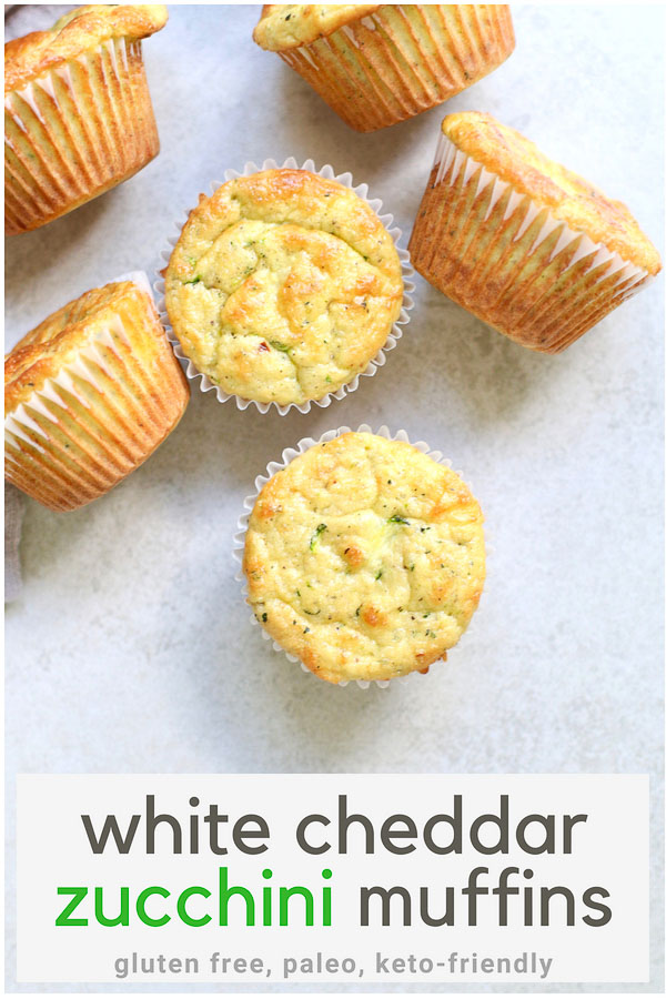 White Cheddar Zucchini Muffins PIN
